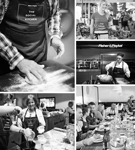 Social Kitchen montage_BW